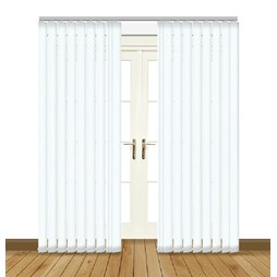 Unilux White Vertical blackout PVC vertical blind