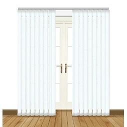 Unilux White Vertical blackout PVC vertical blind