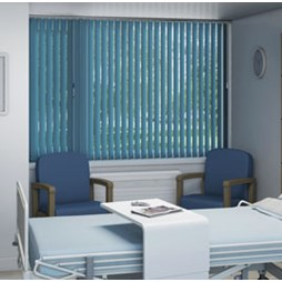 V120 Motorised Headrail with Carnival Vertical Blinds