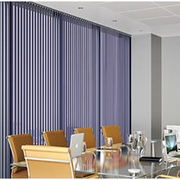 V120 Motorised Headrail with Colourtex Vertical Blinds
