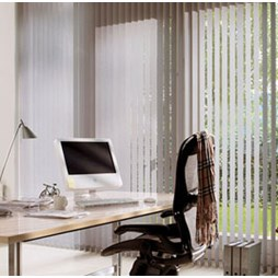 V120 Motorised Headrail with Banlight Vertical Blinds