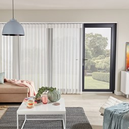 Horizon Chalk Allusion Voile Blind | Buy White Patio Deluxe Online