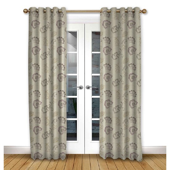 Alderney Grape Eyelet Curtains