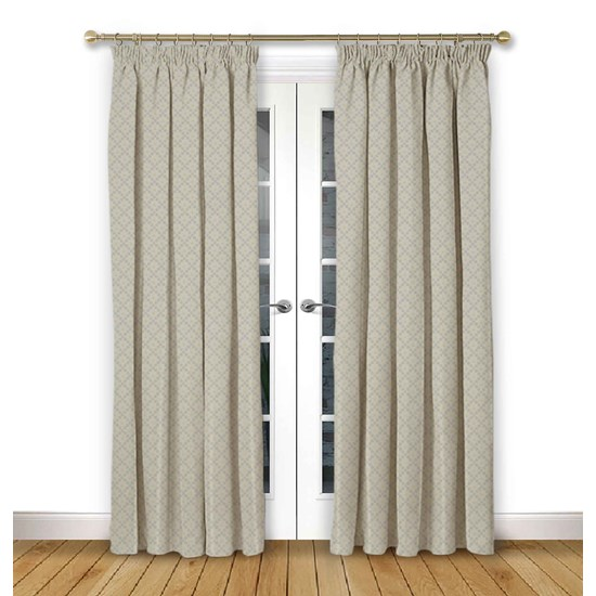 Arley Haze Pencil Pleat Curtains