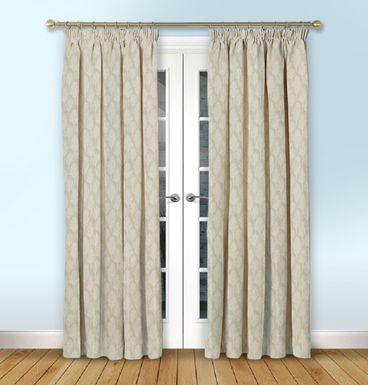 Astrid Ivory Pencil Pleat Curtain