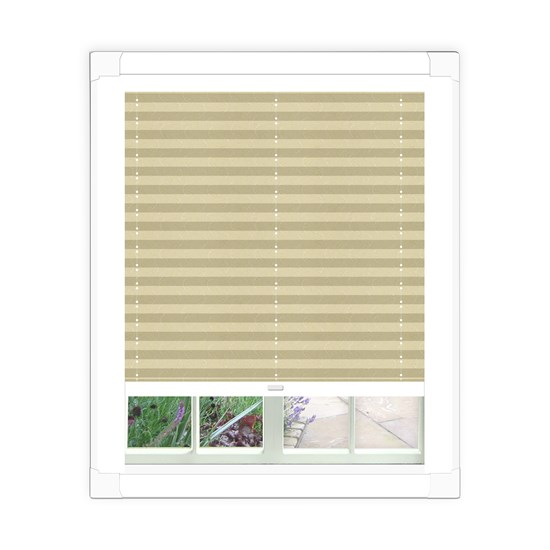 Aura Cream Perfect Fit Pleated Blind