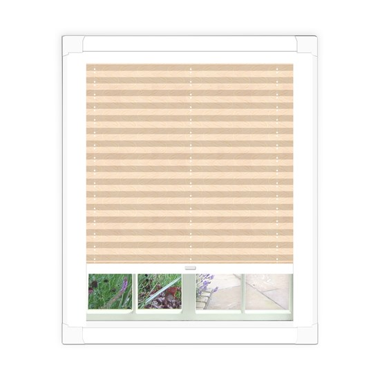 Aura White Perfect Fit Pleated Blind