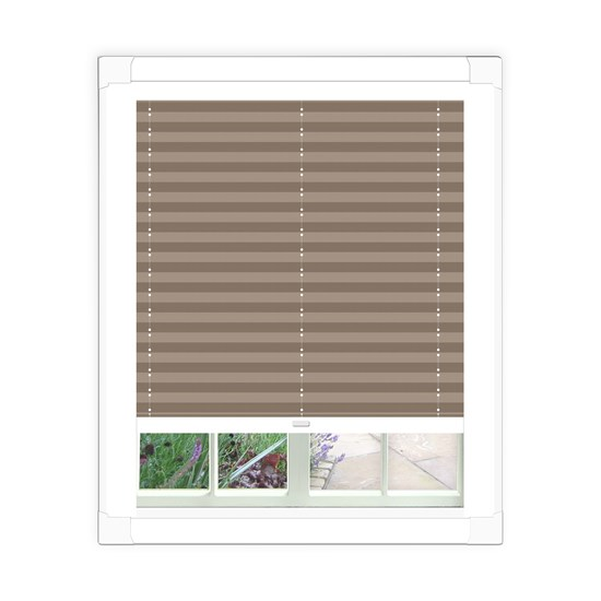 Basix Steel Perfect Fit Pleated Blind