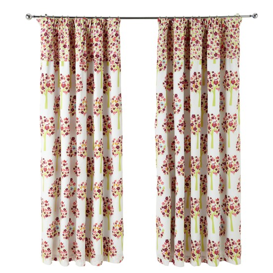 Birdhouse Brights - Hoot Pencil Pleat Curtains