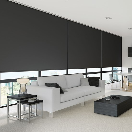 R200L Heavy Duty Roller System with Carnival Blinds