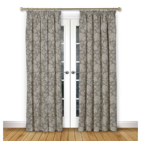Charlbury Dove Pencil Pleat Curtains