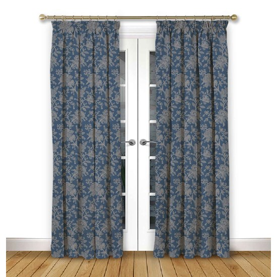 Charlbury Dusk Pencil Pleat Curtains