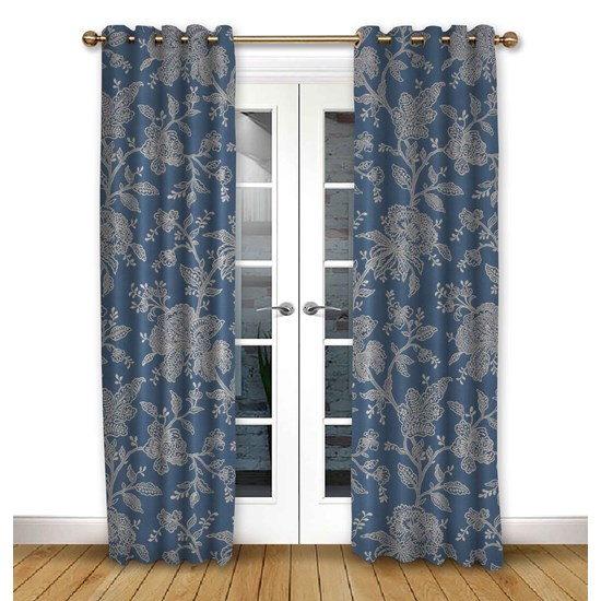 Charlbury Dusk Eyelet Curtains