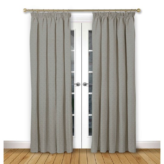 Cosmos Flint Pencil Pleat Curtains