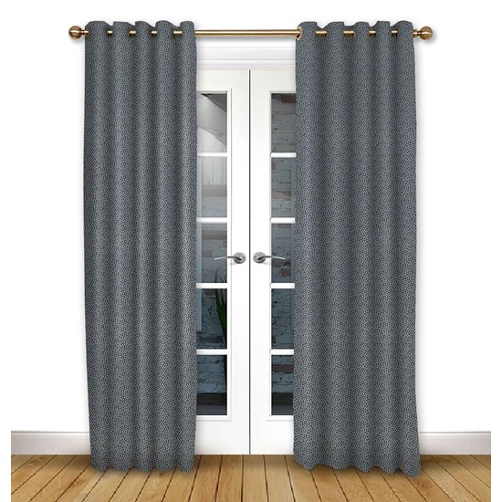 Cosmos Ink Eyelet Curtains