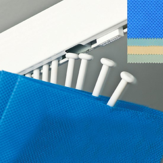 DPL4 Harrier Movaglide Disposable Curtain in Sky Blue