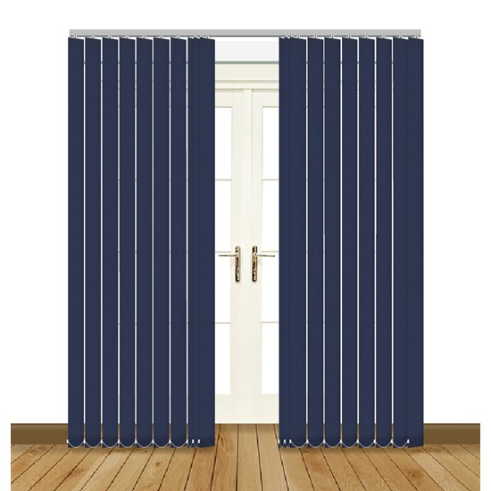 Banlight Duo Navy Vertical Blind