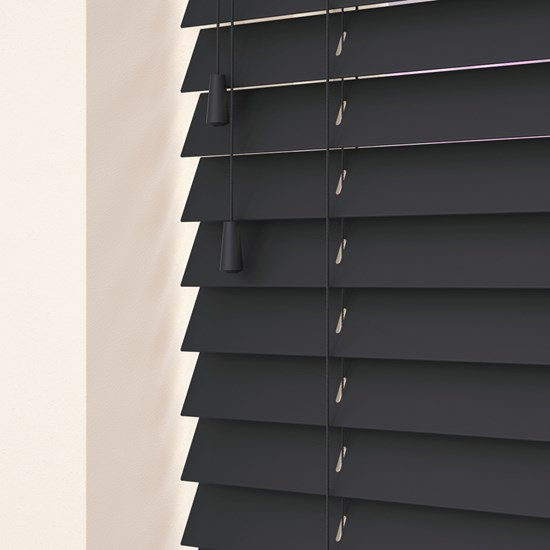Empire Dark Grey Wooden Venetian Blind