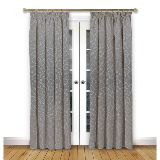 Glacier Flint Pencil Pleat Curtains