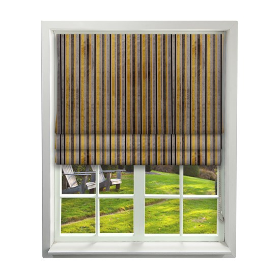 Roman Blinds - Imperio Striped Charcoal