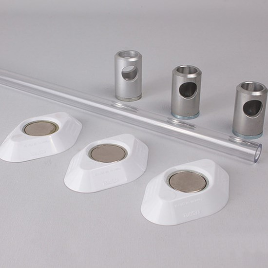 K530/10 Kestrel Polycarbonate Wardrobe Rail Set