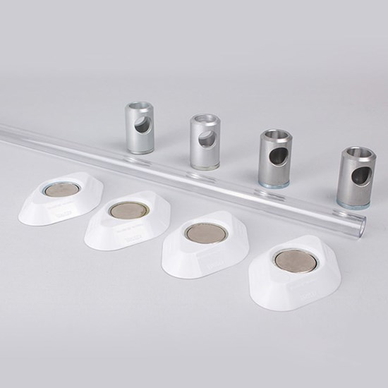 K530/15 Kestrel Polycarbonate Wardrobe Rail Set