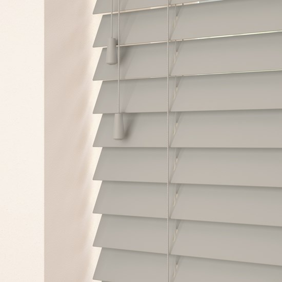 Marlin Light Grey Wooden Venetian Blind