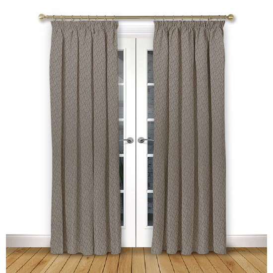 Mistral Mulberry Pencil Pleat Curtains
