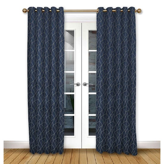 Mistral Ink Eyelet Curtains
