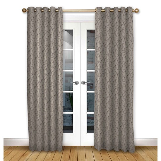 Mistral Mulberry Eyelet Curtains