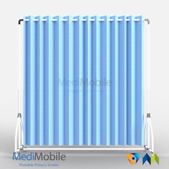 Eyelet Pastel Blue Microban Curtain