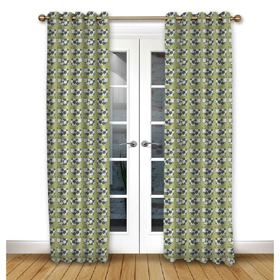 Moo Moo Kiwi Pencil Pleat Curtains