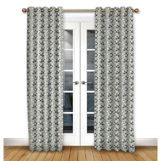 Moo Moo Linen Pencil Pleat Curtains
