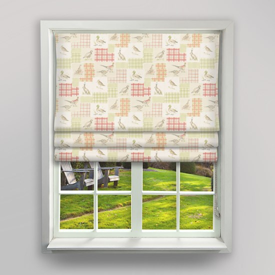 Moorlands Animals Copper Roman Blind