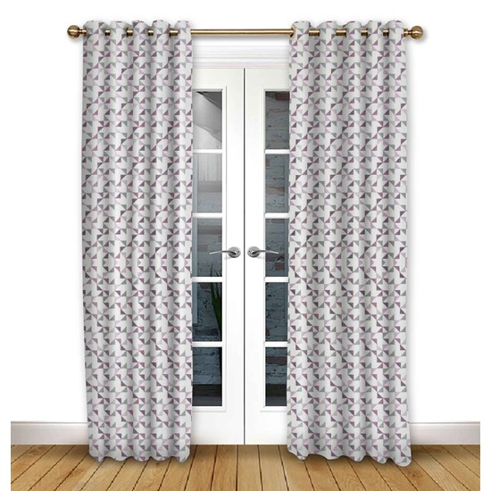 Prism Violet Eyelet Curtains