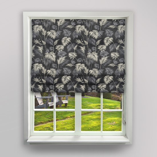 Savannah Slate Roman Blind