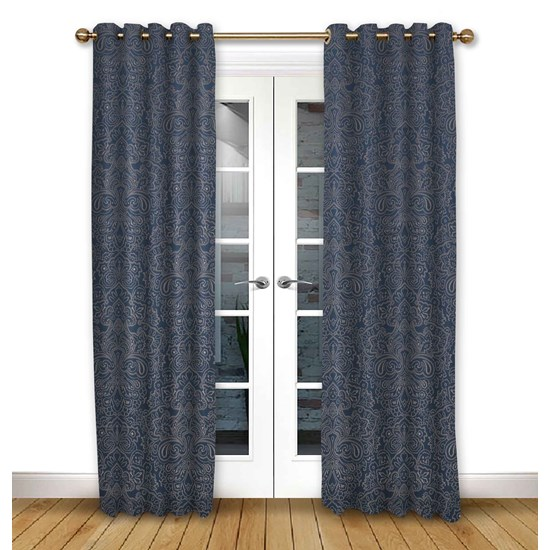 Serenity Ink Eyelet Curtains
