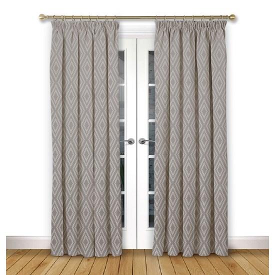 Stratus Flint Pencil Pleat Curtains