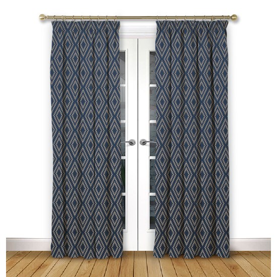 Stratus Ink Pencil Pleat Curtains