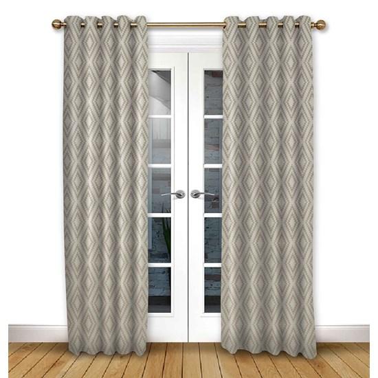Stratus Driftwood Eyelet Curtains