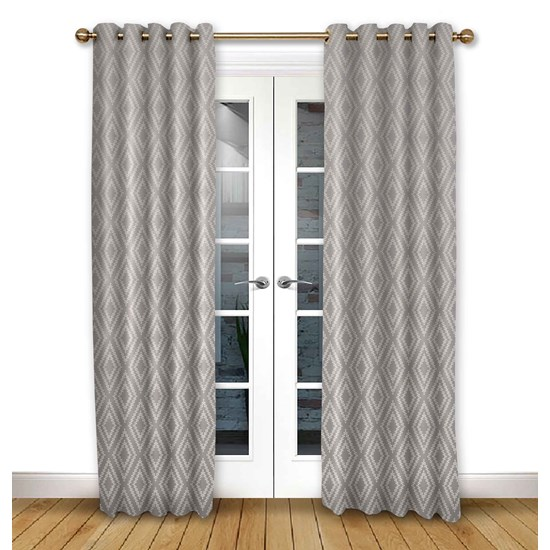 Stratus Flint Eyelet Curtains
