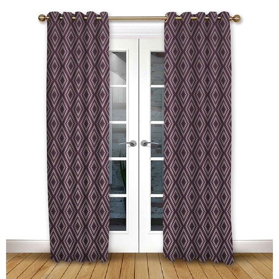 Stratus Mulberry Eyelet Curtains
