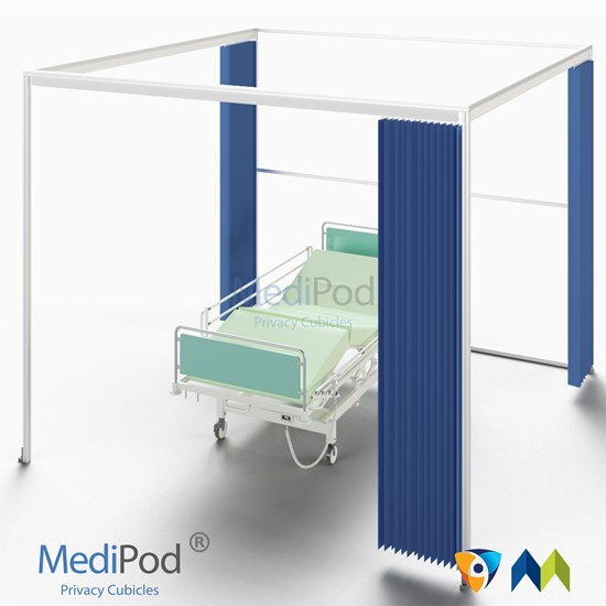 MediPod Type 1 with Adapatatrack + 3 curtains (Large)