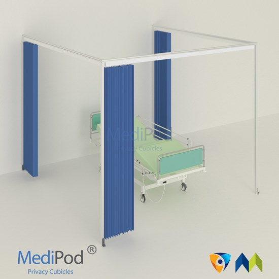 MediPod Type 2 with Adapatatrack + 3 curtains (Large)