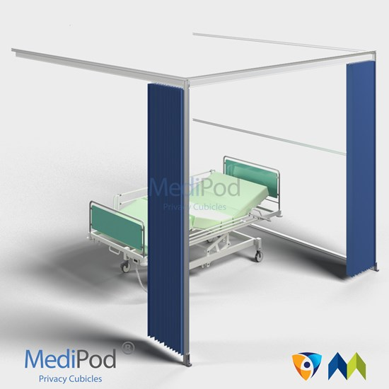 MediPod Type 3 with Adapatatrack + 2 curtains (Large)