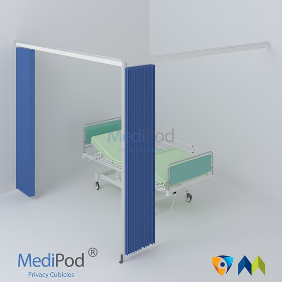 MediPod Type 4 with Adapatatrack + 2 curtains (Large)