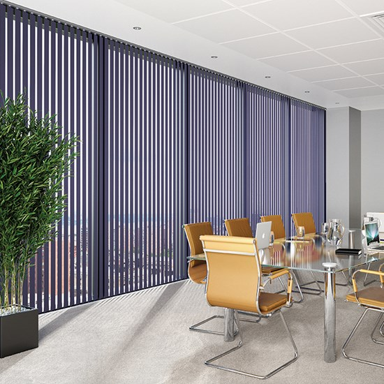 V100 Headrail with Colourtex Vertical Blinds