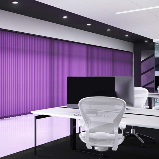 V100 Headrail with Unicolour Vertical Blinds