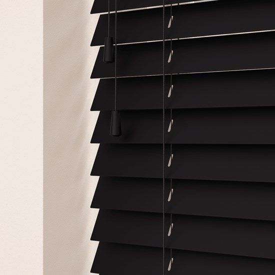 Volt Black Wooden Venetian Blind