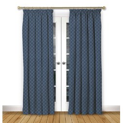 Arley Dusk Pencil Pleat Curtains